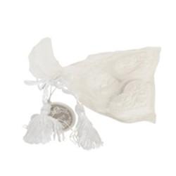 Geurstenen roos in organza zakje