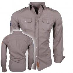 Geographical Norway - Lange mouw Overhemd - Zartistic LS Men - Beige