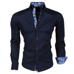 Carisma - Trendy Italiaans overhemd - Getailleerd - 8191 - Navy