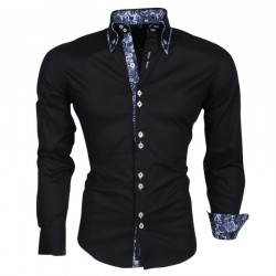Carisma - Trendy Italiaans overhemd - Getailleerd - 8173 - Zwart