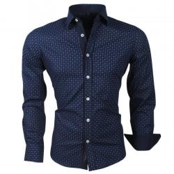 Carisma - Heren overhemd met trendy design - 8240 - Navy