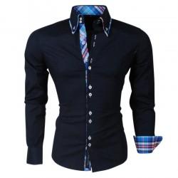 CRSM - Overhemd met dubbele kraag - H 110 - Navy