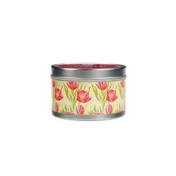 Blushing Tulips Candle Tin