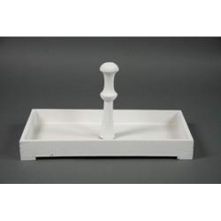 Dienblad rechthoek met handvat Pharr S wit