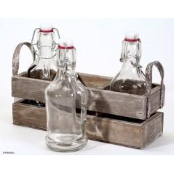 Kratje met flesjes