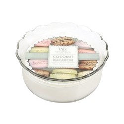 Coconut WoodWick® Macaron Candle