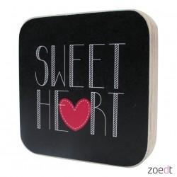 houten tekstblok sweet heart