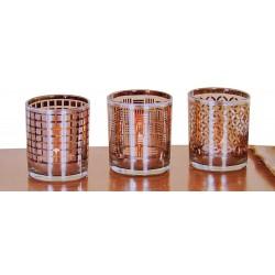 Theelichthouder glas (set van 3)